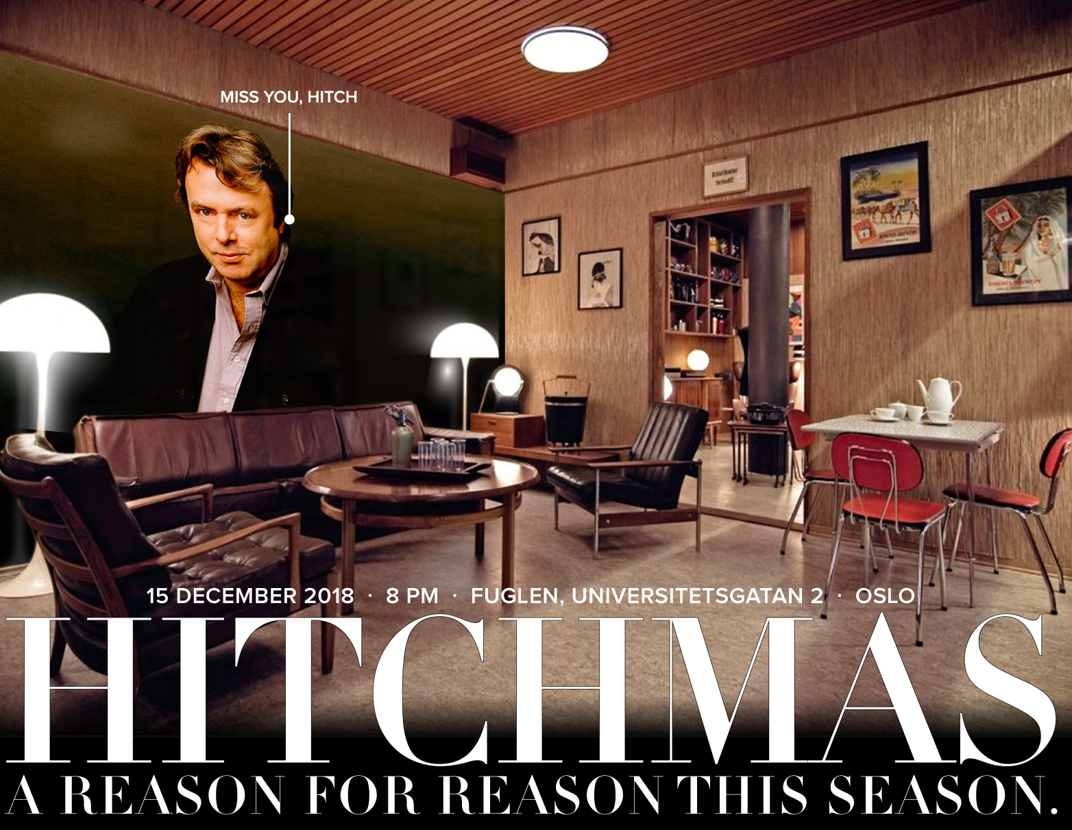 Hitchmas 2018 in Oslo - Happy Hitchmas - Celebrate Christopher Hitchens and Think for Yourself - Martin Krzywinski